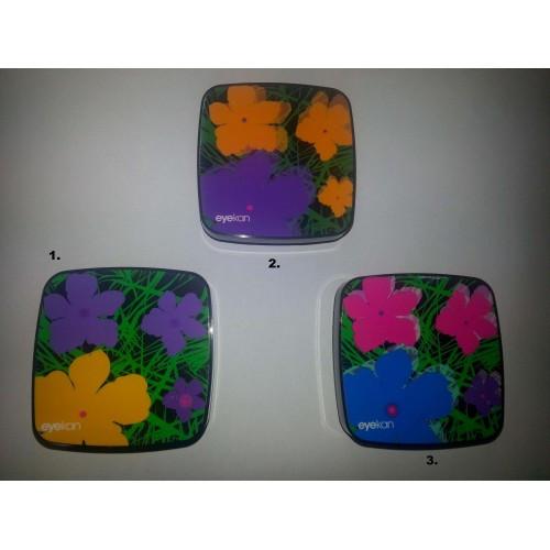 Kazeta na kontaktní čočky - květiny